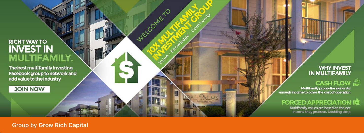 10X Multifamily Investment Group for real-estate syndicators