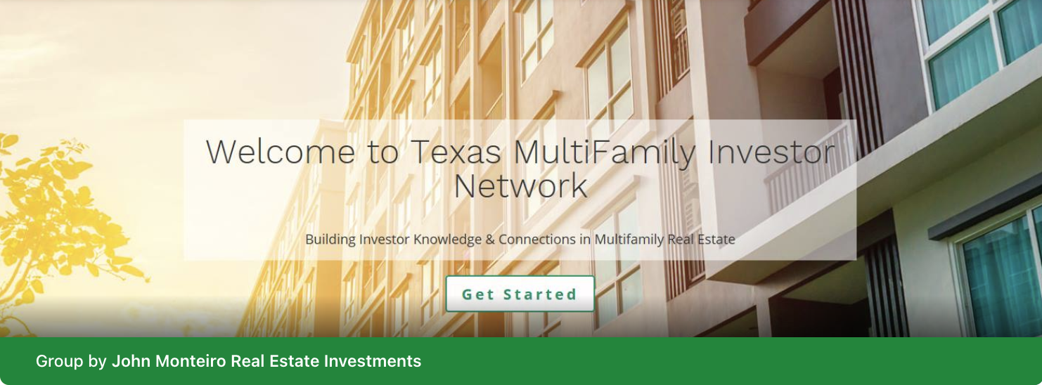 Texas MultiFamily Investor network group for real-estate syndicators