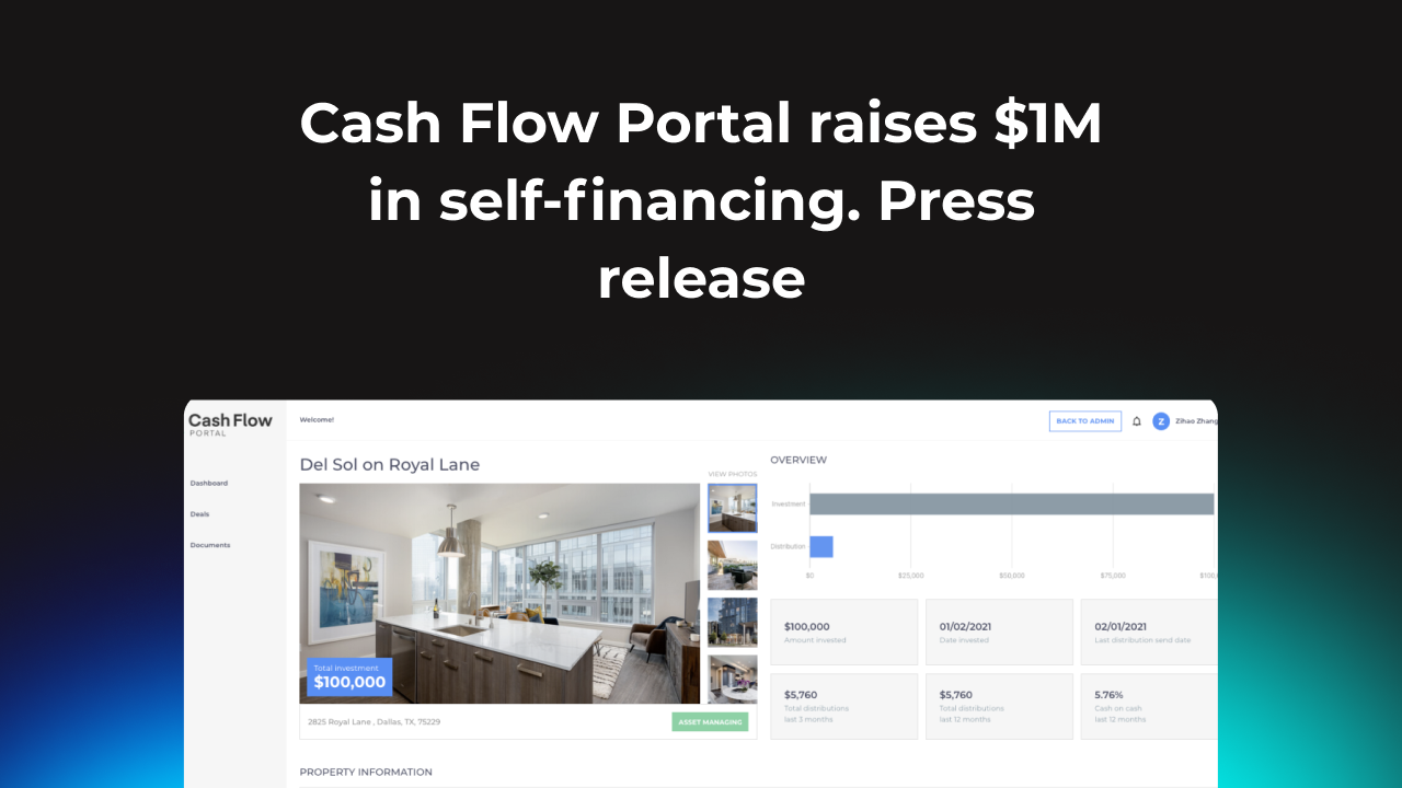 Real estate syndication software raises 1M USD in self financing