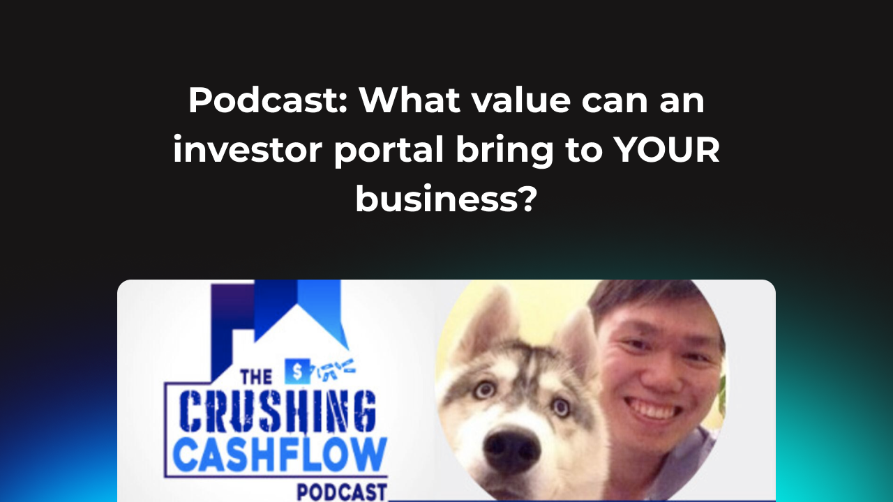 What value can an investor portal bring to YOUR business?