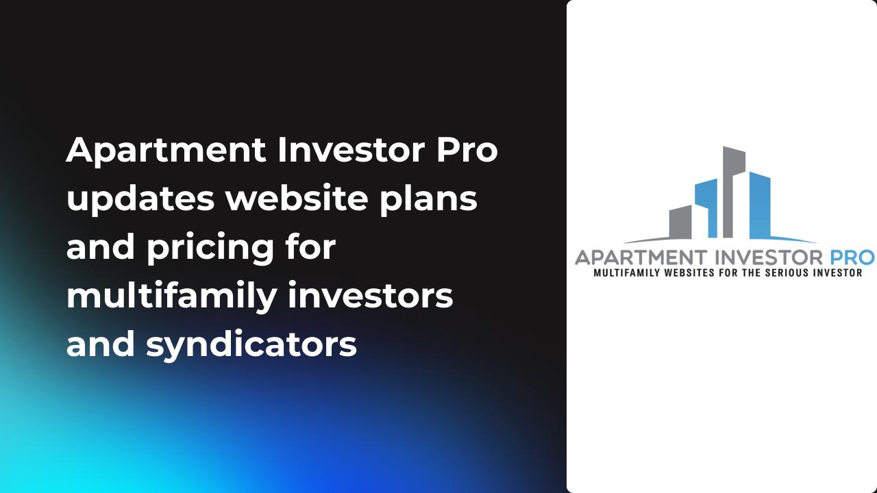 Apartment investor pro