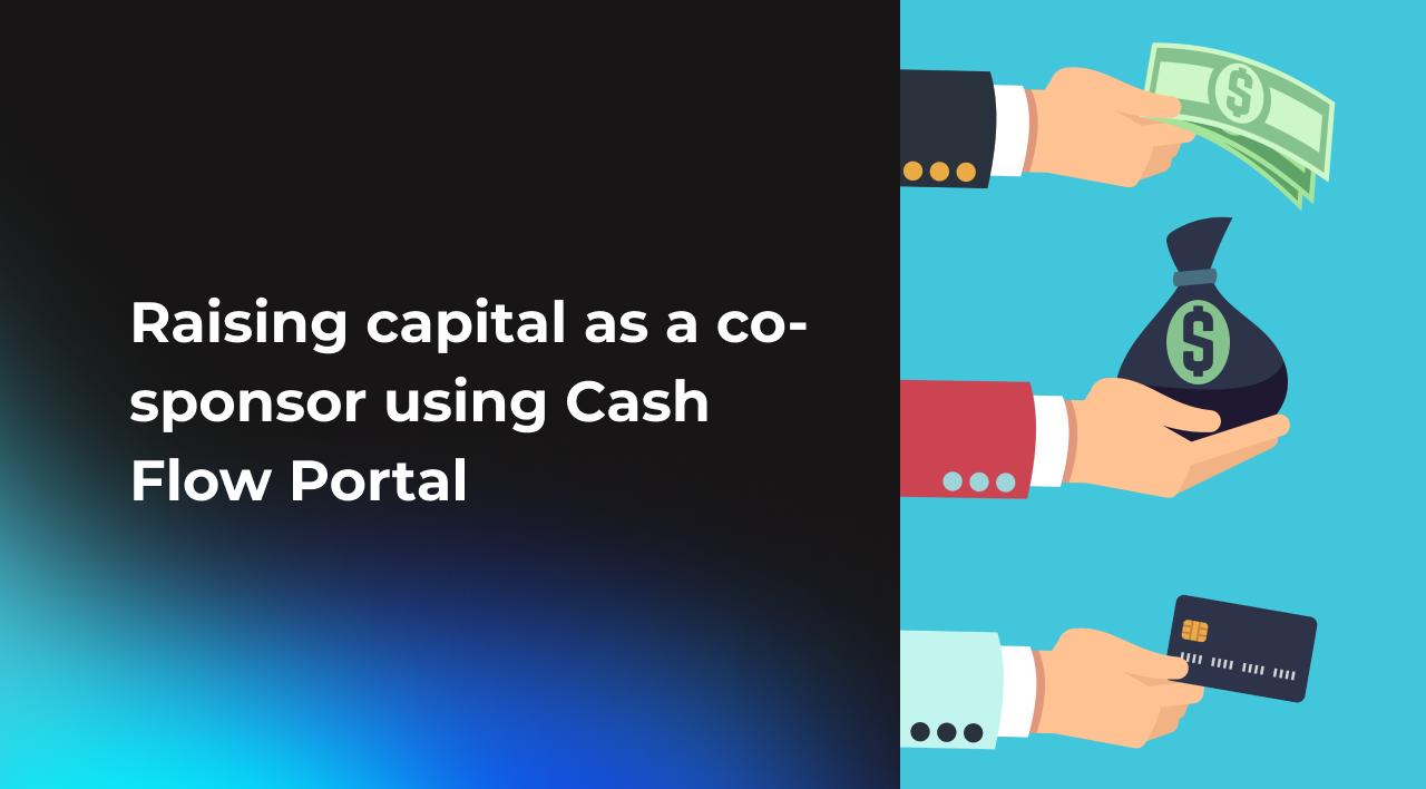 How multifamily deal co-sponsors can raise capital using Cash Flow Portal